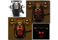 Wholesale Motorcycle parts electroplated skeleton head brake lamp steering lamp set for Harley Davidson motorcycle tail lamp