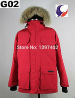 big mens outerwear - 2016 Mens Heavyweight Outerwear Feather Down Jacket Winter Warm Jacket PBI Expedition Parka with Big Coyote Fur Overcoat G02