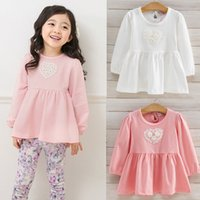 best white blouses - Fashion New Spring Korean Children Clothes Kids Clothing Girls Tops Blouses Short Sleeve T Shirts best cotton white Shirt Tops Lovekiss A82