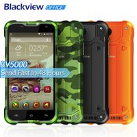 Wholesale Chinese Waterproof Cell Phone - OFFICE Original Blackview BV5000 5.0inch Android 5.1 MTK6735 Quad Core Waterproof Cell Phone,5000mAh Smartphone 4G LTE Mobile Phone
