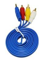 Factory 1.5M Professionnel plaqué or plaqué 2 RCA mâle à 2 RCA mâle composite câble vidéo audio AV câble connecteur Plug
