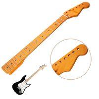 Wholesale Madera De Arce Mástil de la Guitarra eléctrica Trastes Para ST Piezas de Repuesto Superficie Lisa