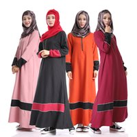 Wholesale Fashion Diamonds Jilbabs And Abayas Muslim Ethnic Dress Thick Chiffon Abaya Muslim Arabic Dubai Kaftan