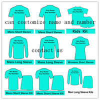 Wholesale 16 new soccer jerseys any rugby T shirt man short sleeve women kids kit long sleeve tracksuit football sport customize name number