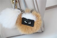 Wholesale 2017 new winter rabbit fur bag pendant ornaments hanging bag really small monster