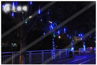 best christmas garland - Best price CM Meteor Shower Rain Tube Decorative Guirlande Led Outdoor Garland Fairy Christmas Tree Luci Lights