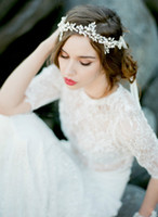 Wholesale New Arrive Hand Made Bridal Accessories Crystal Pearl Beads Real Image Fashion Hot Sale Women Wedding Headpieces Bride Hair Fascinators