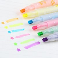 Wholesale pc Sweet Candy Rainbow Chalk Marker Pen Fluorescent Marker Stationery Supplies Multifunction