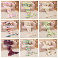 baby room sets - Mermaid Blankets Butterfly Pillow Sets Baby Mermaid Tail Blanket Kids Sleep Bags Nap Sofa Blankets Bedding Living Room Bedroom Blankets F321