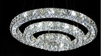 Wholesale 3 rings new arrival modern led chandelier raimond living room lustre crystal led
