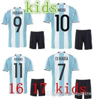 active di - kids Argentina DI MARIA KUN AGUERO MASCHERANO kids sets argentina shirt children kit