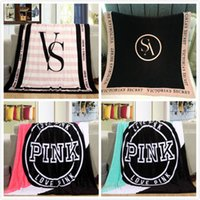 Wholesale DHL FREE Victoria Coral Fleece Classic Love Pink Secret Keep Body Warm living room Bed Throw Blanket cm cm for Christmas JC16
