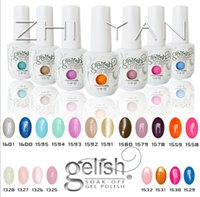 Wholesale New and color style high quality soak off led uv gel polish nail gel lacquer varnish gelish