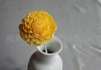 bendable wood - Wood Flower Aroma Oil Diffuser with Zinnia Flower chrysanthemum Sola Wood Flower Aroma Oil Diffuser with Bendable Cotton Wire Wick
