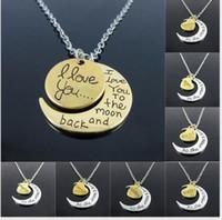 al por mayor luna colgante de oro rosa-ORDEN DE MEZCLA US $ 10 Nuevo Inspirational Tri Amarillo de Plata Coloreado, Oro de Rosa