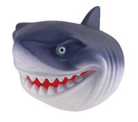 Wholesale 2017 new year gift kid toy Simulated Shark Vinyl Hand Glove Puppet Finger Toy gift for kid