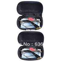 Wholesale 2 PRS Mens Womens Folding Travel Business Reading Glasses with Case in Strengths