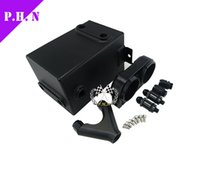 Wholesale universal fit Black Fuel Tank L RAW Aluminum SURGE TANK Y Block Bracket FUEL PUMP DUAL EFI WITHOUT FUEL PUM in stock ready to ship