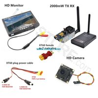 Wholesale km FPV Combo System Ghz mw Transmitter Receiver No blue Monitor TVL Camera DJI Phantom QAV250 Quadcopter