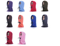 Wholesale Hot sale Outdoor Sports cold winter Hooded Scarfs Thickening warm Winter Hat Full Face hat for ski Bicycle and Snowboard Sport