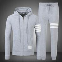 Wholesale 2016 Men s Apparel Clothing Men s Tracksuits Hoodie sports suit TB3COLORS