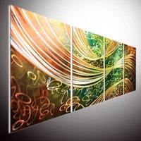 Wholesale METAL PAINTING WALL ABSTRACT Painting original abstract wall art home decor outdoor indoor painting wall oil painting wall