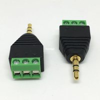 av pin jack - 100pcs Video AV Balun mm quot stereo male to AV Screw Terminal Stereo jack mm male pin Terminal Block Plug connector