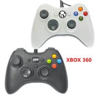 Pcs jeux France-Xbox 360 Playstation Controller Gamepad USB Wired Joypad XBOX360 Joystick PC Black Game Controllers pour ordinateur portable PC