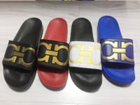 Beach best flip flop sandals - Mens Causal Flat Slide Sandals Best Quality Fashion designer Male Summer Outdoor Beach Sandals Slippers for men Euro40