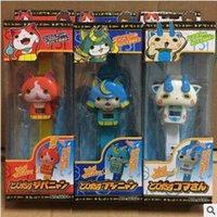 abs plastic dolls - 3 Designs Yo kai Watch ABS Kids Toys Japanese Anime Digital Watch Deformable Doll Jibanyan Komasan Bushinyan With Package CCA5279