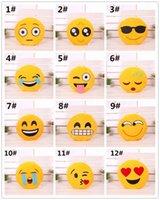 Wholesale 32cm Cushion Cute Lovely Emoji Smiley Pillows home Pillow Stuffed Plush Soft Toy Yellow Round Cartoon Facial QQ Expression Pillows