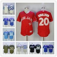 Wholesale Josh Donaldson Jersey Toronto Blue Jays Baseball Jersey Flexbase Coolbase Throwback White Blue Red Grey