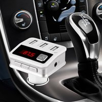 bc adapter - BC Bluetooth Car Kit Adapter Handsfree Wireless FM transmitter Car Charger with V A USB Charging Port LED Display