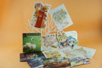 Wholesale 2015 animal postcard greeting cards butterfly thank you cards gift card set cm cm flowers Giraffe Hand Drawing