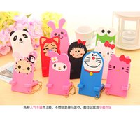 animal cell phone holders - Newest Cell phone holder Lovely Cartoon Animal Holder Stand for iphone samsung HTC Table PC ipad with OPP package