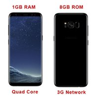 Goofón s8 borde teléfonos móviles 1 GB Ram 8 GB Rom Quad Core s8 Cellpohones Mtk6582 3G red de metal marco S8 Smart Phone DHL Free