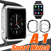 apple retail support - A1 Smart Watch Bluetooth Wearable Touch Screen Smartwatch Apple iWatch Support SIM TF Card Smart Watches For Smartphone With Retail Package