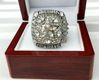 al por mayor champion rings-Nuevo anillo 1995 de oro 1995 del campeón del anillo del campeonato del vaquero de Dallas Envío libre con la caja al por menor