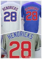 Wholesale Cheap Mens Kyle Hendricks Jersey Chicago Baseball Jerseys Stitched Logo Blue Grey White Size S XL