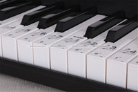 Wholesale Music Keyboard Piano Note Clear Stickers Labels Set For Keys JDS