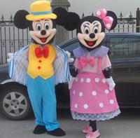 La mascota weddding del adulto de Mickey Mouse de la alta calidad viste la historieta de lujo del anime del traje del carnaval de la suposición de Mickey y de la mascota del minnie que envía libremente