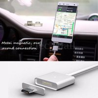 Wholesale 2 A Magnetic Micro USB Charger Adapter Charge Cable for Samsung HTC LG Huawei iphone