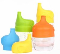 - baby drinks - Silicone Sippy Lids for baby drinking Converts any Cup or Glass to a Sippy Cup Makes Drinks Spillproof Reusable Durable