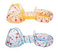al por mayor animes de juguete-Venta al por mayor- Niños 3 en 1 tienda de juego portátil plegable Ocean Ball Pit casa con túnel Tiendas de juguete de deporte al aire libre para niños Niños