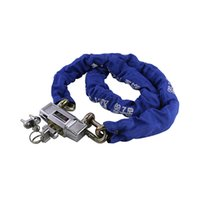 Wholesale DHL New Arrival Manganese Steel Double Cylinders m Length Electric Cars Lock Mountain Bike Lock Anti theft Chain Locks