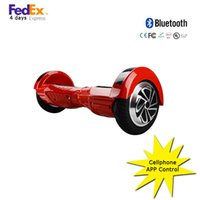Wholesale APP cellphone control hoverboard inch self balance electric scooter two wheel smart drifting scooter hoverboard with bluetooth