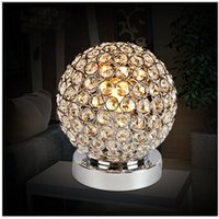 Wholesale Carola Simple LED Crystal Table Lamp Modern Decorative Desk light with LED Source Reading Lamp
