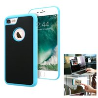 apple tile - Anti Gravity Phone Case For Apple iPhone Plus S Plus S SE Samsung Galaxy S7 S6 Edge Magical Nano Can Stick to Glass Whiteboards Tile