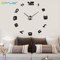 big decorative mirrors - Home decorations big mirror wall clock Modern design large decorative designer wall clocks watch wall sticker unique gift W008s