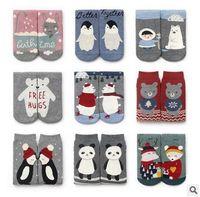 beer wear - Winter Baby Girls Socks New Cartoon Beer Bunny Printed Children Christmas Socksing Wear Cotton Xmas Kids Socks